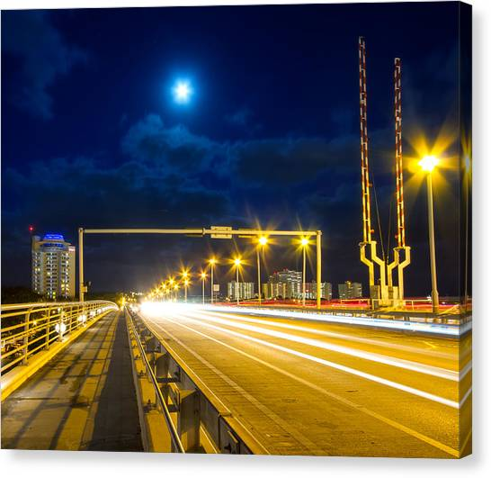 Rights Managed Images Canvas Print - Beach Causeway by Mark Andrew Thomas