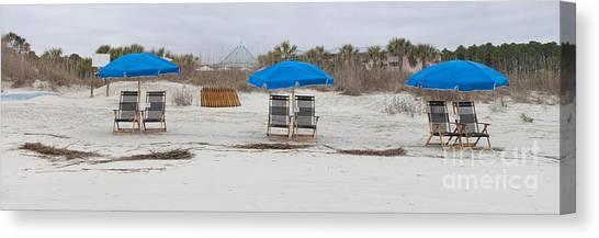 Beach Chairs  Canvas Print