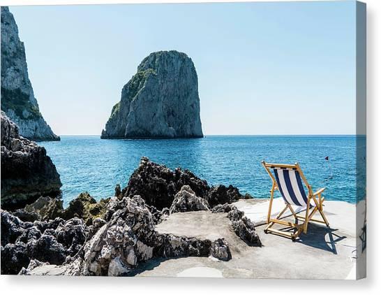 Beach Club La Fontanella, Capri Canvas Print