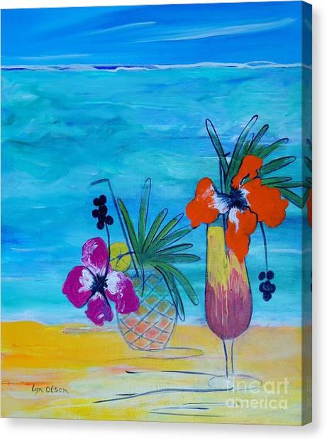 Beach Cocktails Canvas Print