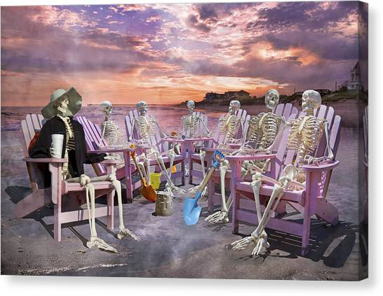 Fantasy Cave Canvas Print - Beach Committee by Betsy Knapp