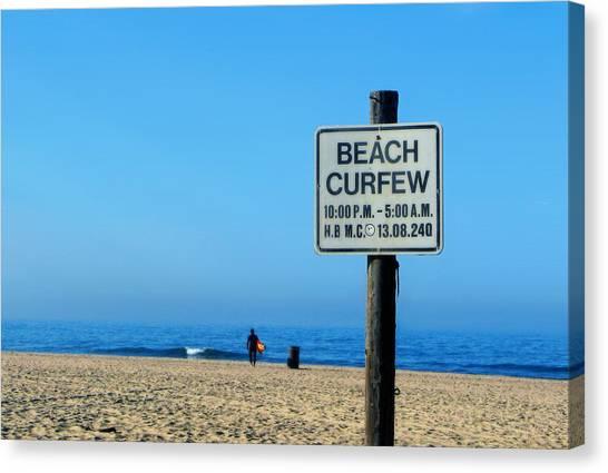Beach Curfew Canvas Print