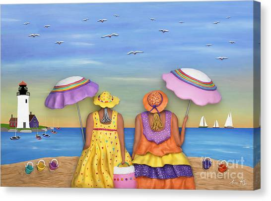 Beach Date Canvas Print
