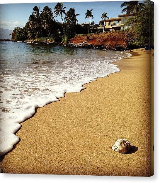 Red Rock Canvas Print - Beach Day by Darice Machel McGuire