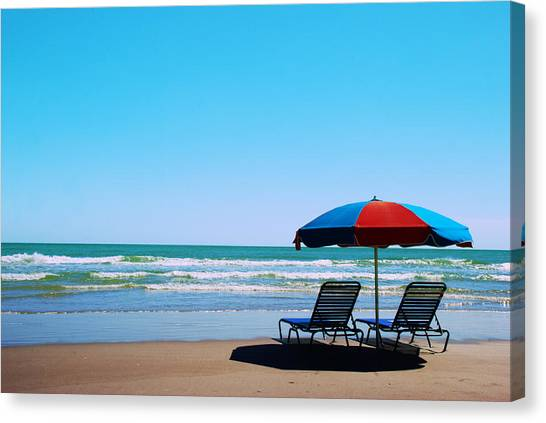 Canvas Print featuring the photograph Beach Dreams by Beverly Stapleton