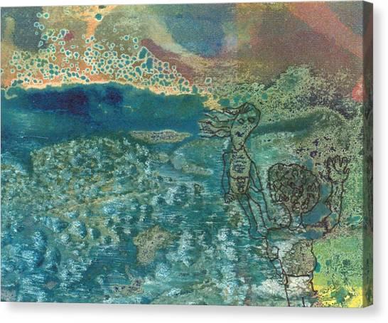 Beach Friends Flotsam And Jetsam Canvas Print