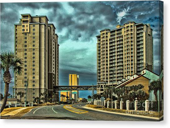 Panama City Beach Front Rd Canvas Print