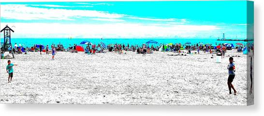 Beach Fun 1 Canvas Print