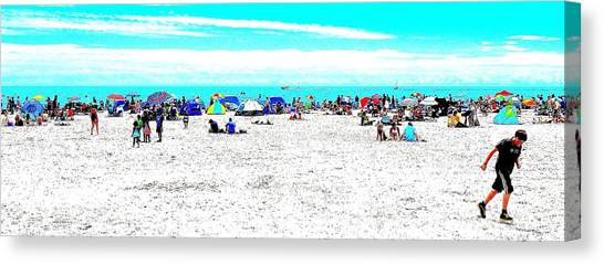 Beach Fun 2 Canvas Print