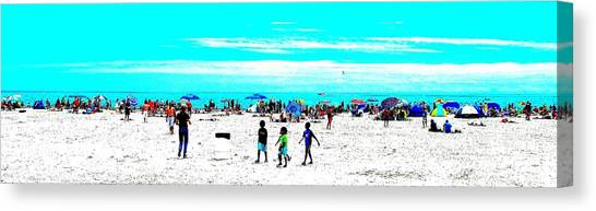Beach Fun 3 Canvas Print