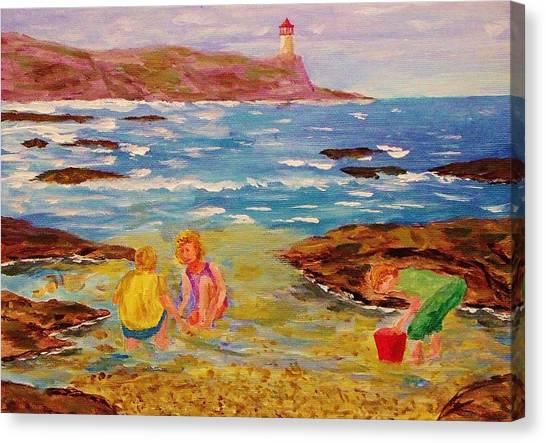Beach Fun Canvas Print