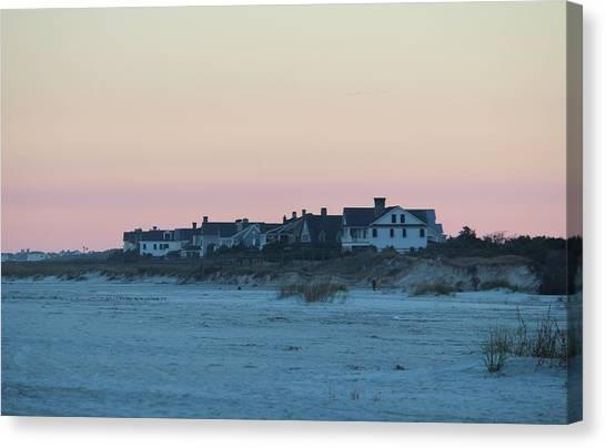 Beach Houses Canvas Print