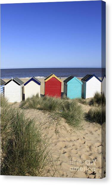 Southwold Beach Huts Uk Canvas Print