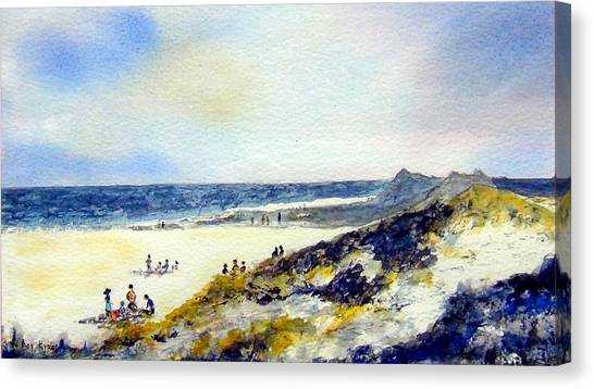 Beach In Norfolk Canvas Print by Roy Hyslop