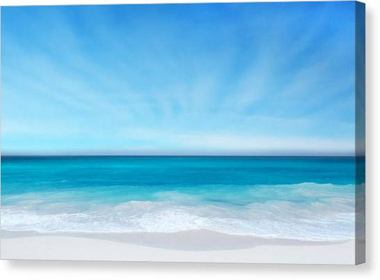 Beach In The Morning Canvas Print