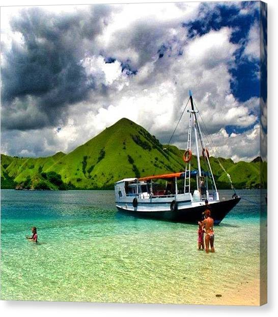 Scuba Diving Canvas Print - #beach #island #flores #indonesia by Fajar Triwahyudi