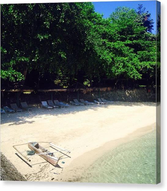 White Sand Canvas Print - Beach Life by Beach Scoop