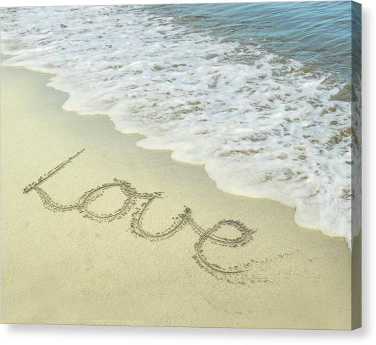 Beach Love Canvas Print