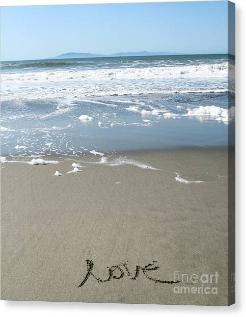 California Landscape Art Canvas Print - Beach Love by Linda Woods