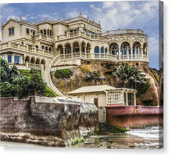 00003 La Jolla Beach Mansion Canvas Print