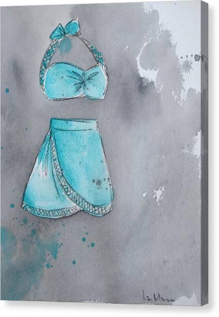 Bikini Canvas Print - Beach Momma  by Lauren Bolshakov
