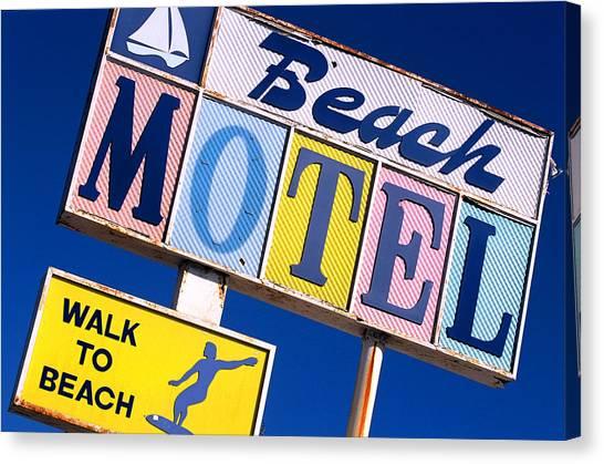 Beach Motel Canvas Print
