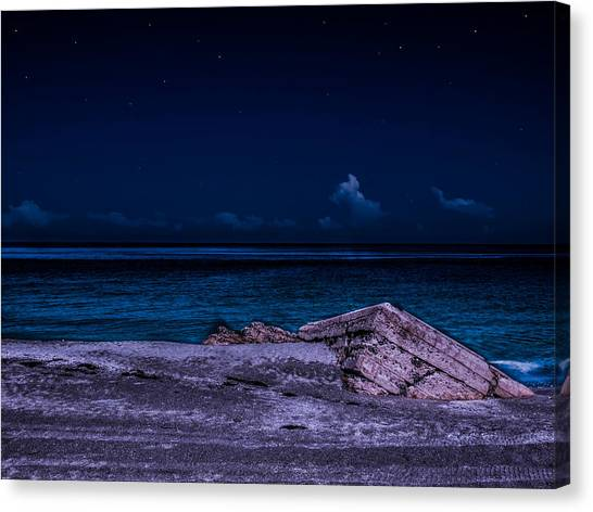 Beach Night Canvas Print