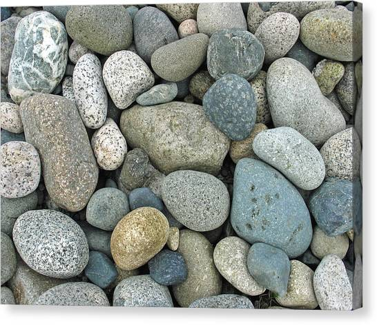 Beach Pebbles Canvas Print