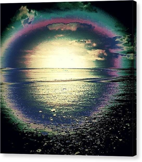 Floss Canvas Print - •beach Rainbow Edit•  #beach by Candy Floss Happy