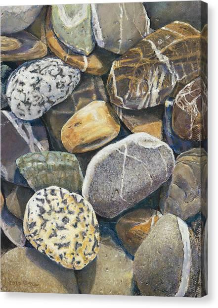 Beach Rocks 4 Canvas Print