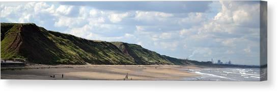 Canvas Print featuring the photograph Beach - Saltburn Hills - Uk by Scott Lyons