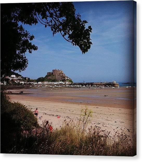 Sand Castles Canvas Print - #beach #sand #sun #summer #fun #holiday by Susie Curtis