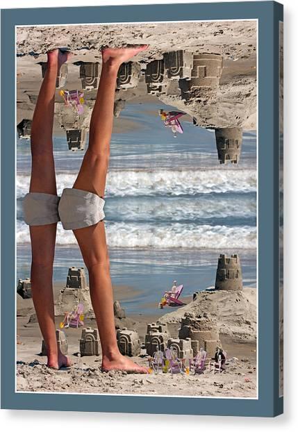 Sand Castles Canvas Print - Beach Scene by Betsy Knapp
