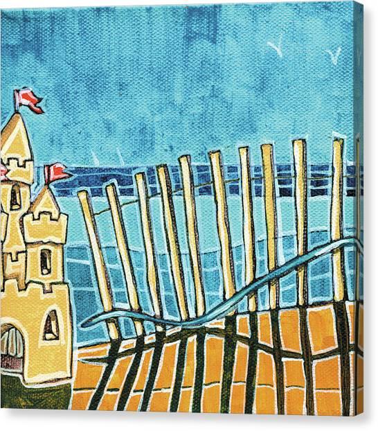 Sand Castles Canvas Print - Beach Scene II by Stuart Roy