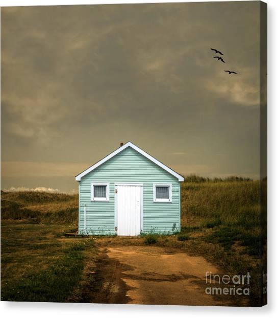 Prince Edward Island Canvas Print - Beach Shack Square by Edward Fielding