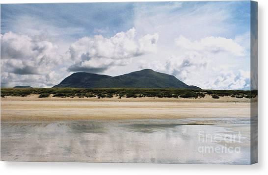 Beach Sky And Mountains Canvas Print