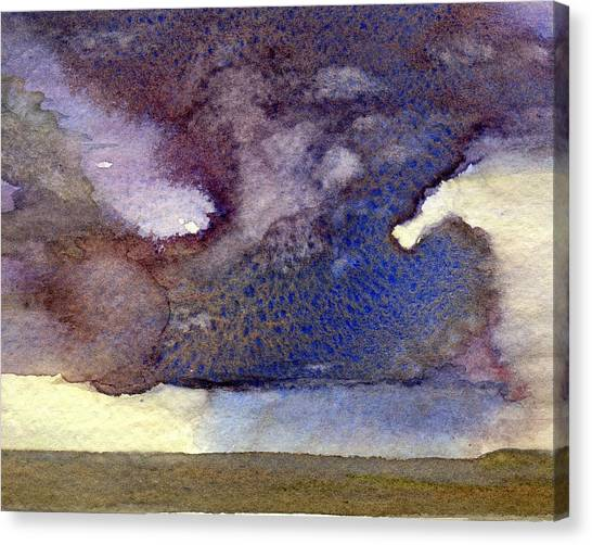 Beach Storm Cloud Canvas Print