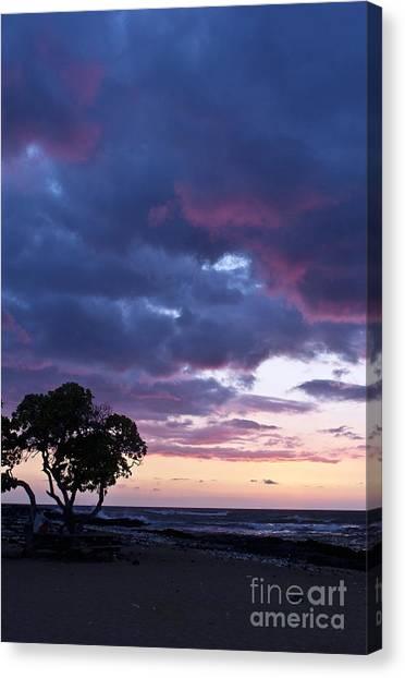 Beach Sunset Canvas Print by Karl Voss