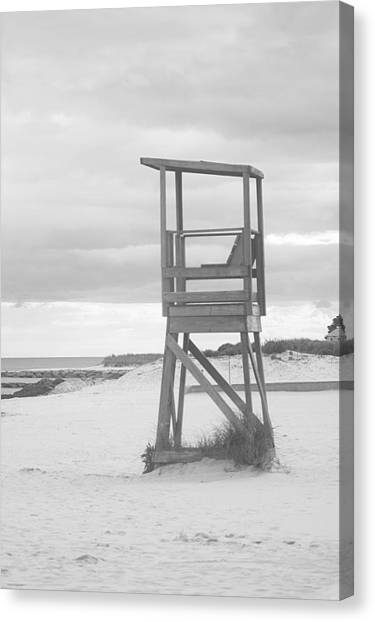 Beach Throne Harwich Ma Bw I Canvas Print