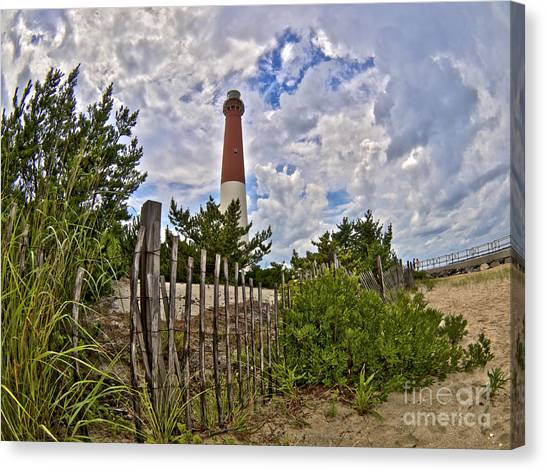 Beach View Of Barney Canvas Print