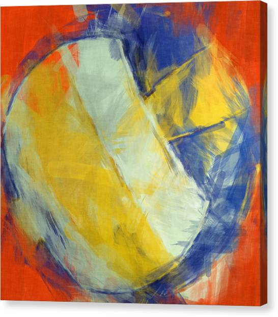 Volleyball Canvas Print - Beach Volleyball Abstract by David G Paul