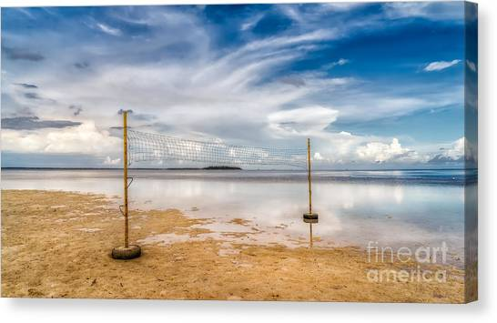 Volleyball Canvas Print - Beach Volleyball by Adrian Evans