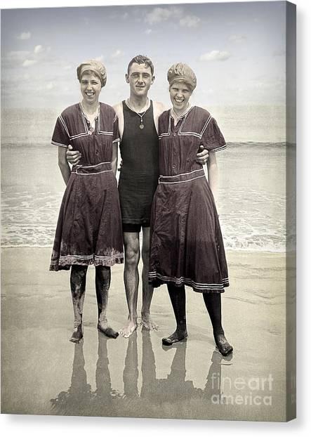 Beach Wear Fashion 1910 Canvas Print