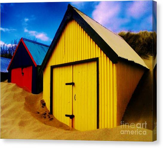 Beached Hut Canvas Print