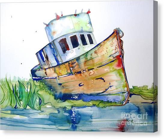 Beached Canvas Print by Maya Simonson
