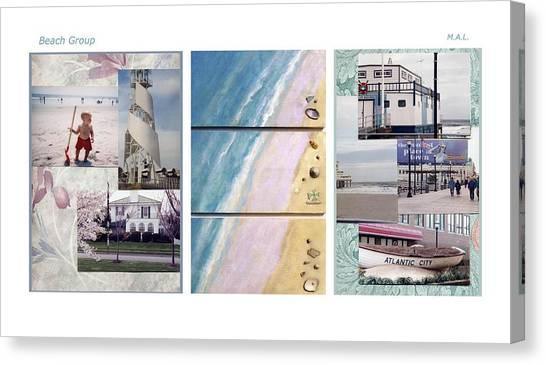 Beaches Group Canvas Print