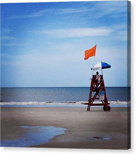 Lifeguard Canvas Print - #beachlife #saltlife #oceanstyle #ocean by Tony Sinisgalli