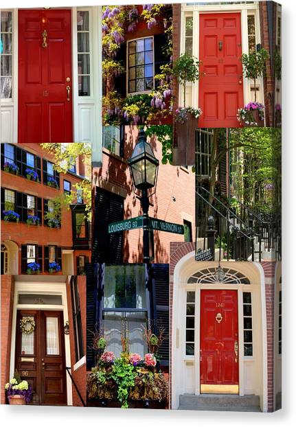 Beacon Hill  Windows Doors And More Canvas Print
