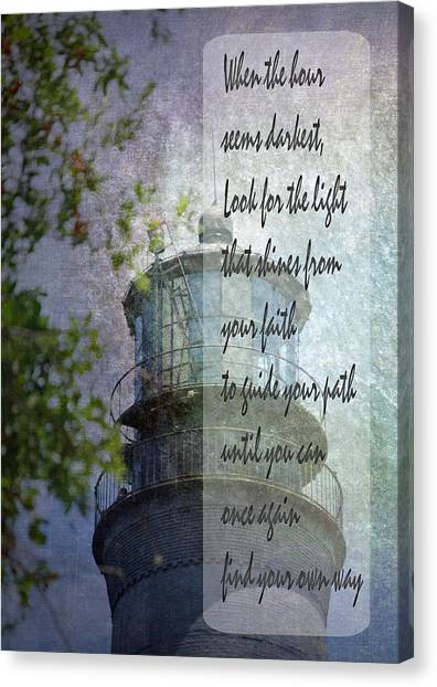 Beacon Of Hope Inspiration Canvas Print