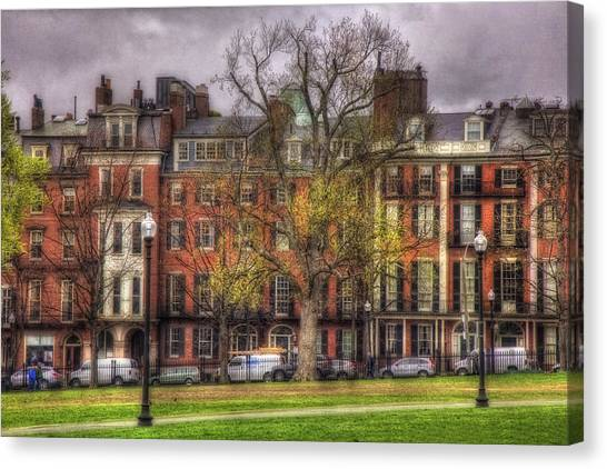 Beacon Street Brownstones - Boston Canvas Print